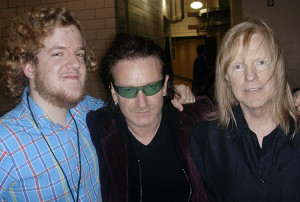Larry Norman's son Mike, Bono, and Larry