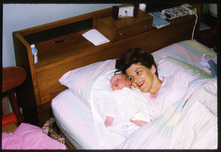 Here's Margaret Norman and Charles in his first day home from the hospital.